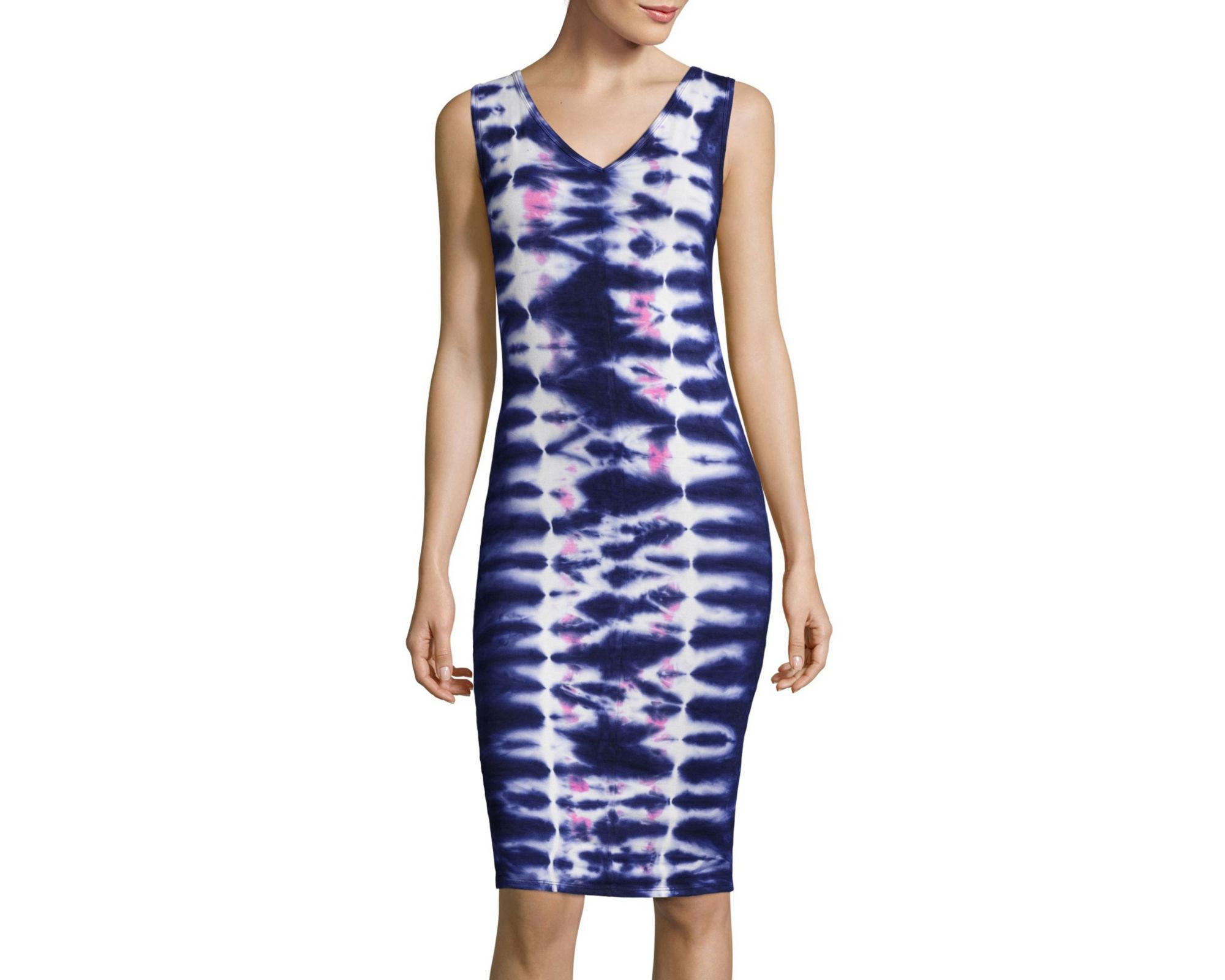 BELLE + SKY Sleeveless Tie-Dye Dress