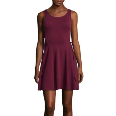 jcpenney.com | Decree® Sleeveless Side-Lace-Up Skater Dress- Juniors
