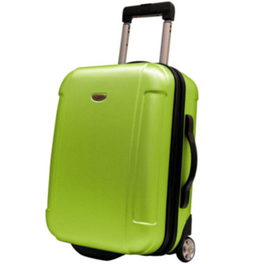 "jcpenney.com | Traveler's Choice® Freedom 21"" Lightweight Hard-Shell Wheeled Upright Luggage"