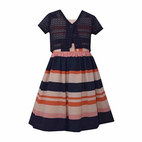 Bonnie Jean 2-pc.Cardigan Dress Big Kid Girls