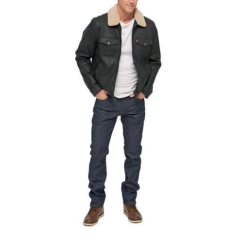 Levi's® Faux Leather Sherpa Trucker Jacket