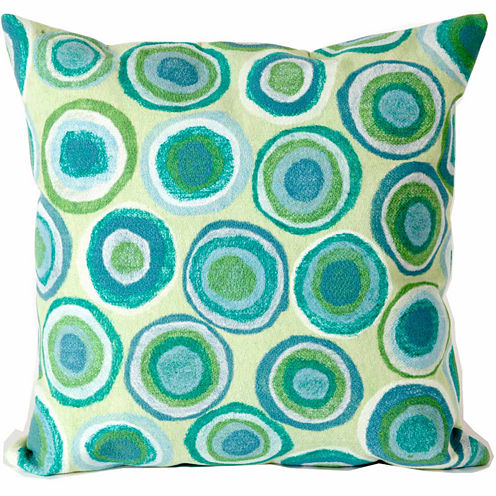 Liora Manne Visions Ii Puddle Dot Square Outdoor Pillow