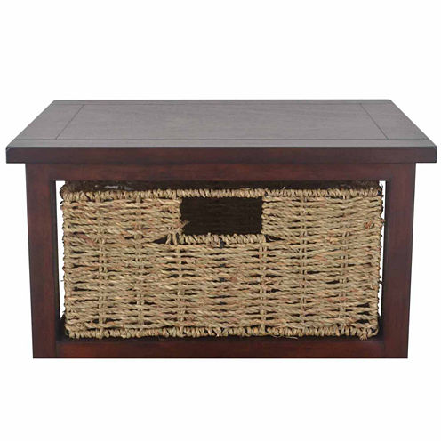 Decor Therapy 3 Basket 3-Drawer Storage End Table
