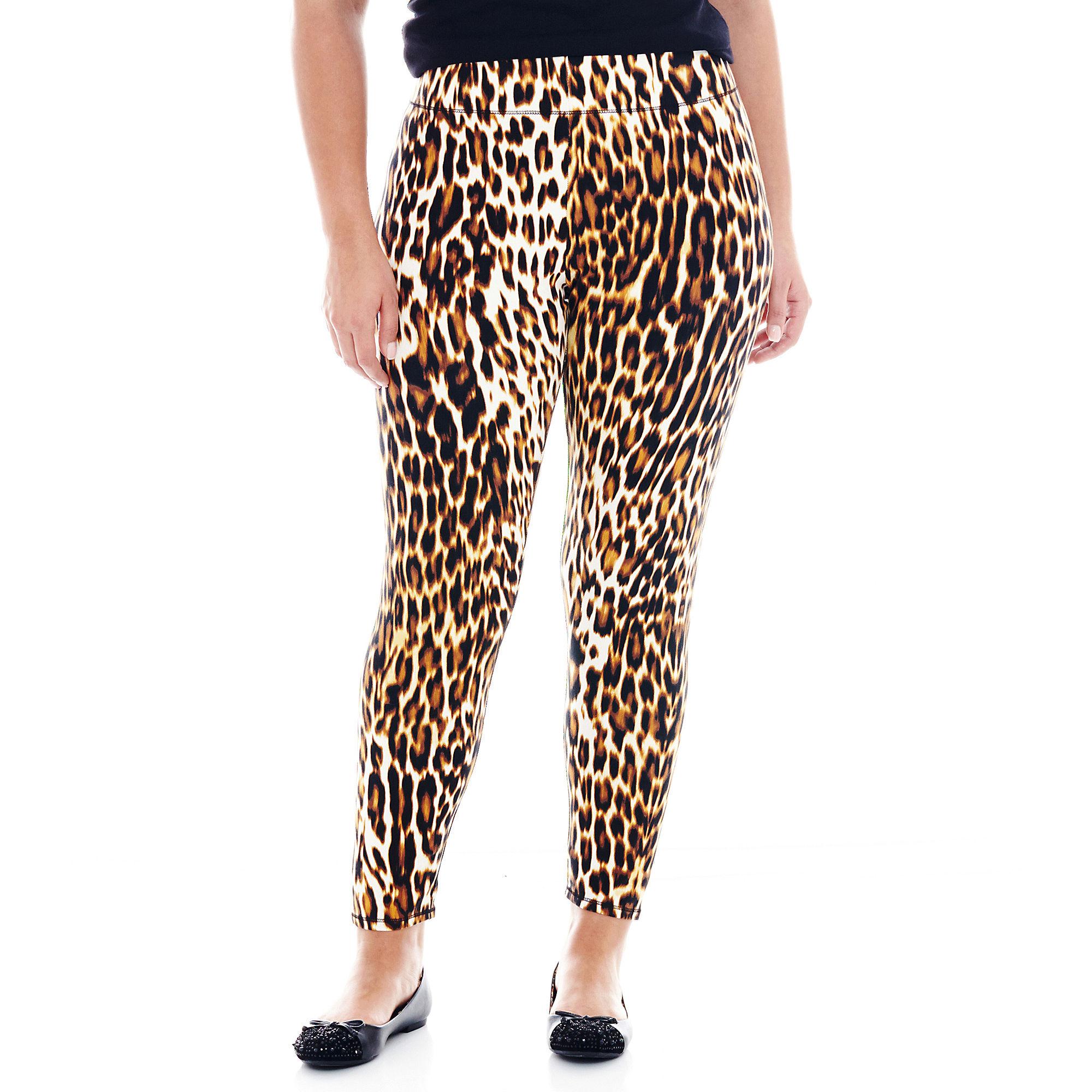 Mixit™ Leopard Print Knit Leggings - Plus
