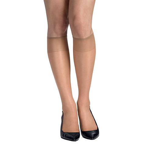 Hanes® Silk Reflections® 2-pk. Knee-High Sandalfoot Hosiery