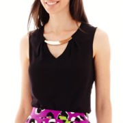 Worthington® Tank Blouse with Metal Hardware - Tall