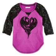 Disney Descendants Lace-Sleeve Dragon Heart Tee - Girls 7-16