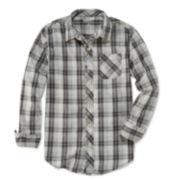 Arizona Long-Sleeve Plaid Shirt - Boys 8-20 and Husky