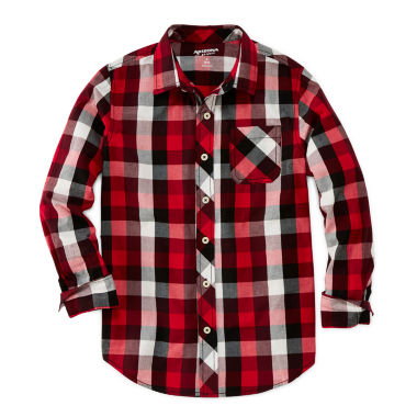 jcpenney.com | Arizona Long-Sleeve Plaid Shirt - Boys 8-20 and Husky