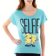 Short-Sleeve Minion Bow-Back Graphic T-Shirt