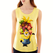 Minion Chiffon-Back Graphic Tank Top