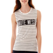 Slash-Back Graphic Tank Top