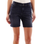 Liz Claiborne® 5-Pocket Denim Shorts