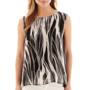 Liz Claiborne® Abstract Print Tank Top