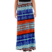 Bisou Bisou® Scarf Print Maxi Skirt - Plus