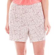 Ambrielle® Easy Knit Sleep Shorts - Plus