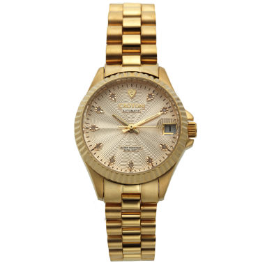 jcpenney.com | Croton Womens Diamond Accent Gold-Tone Automatic Bracelet Watch