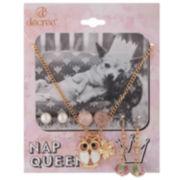 Decree® Nap Queen Necklace & Earring Set