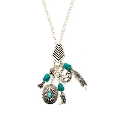 jcpenney.com | Arizona Silver-Tone Feather, Boot & Horseshoe Charm Necklace