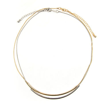 jcpenney.com | Arizona 2-pc. Two-Tone Curved Tube Necklace