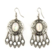 Arizona Textured Drop Cab Earrings