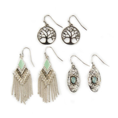jcpenney.com | Arizona 3-pr. Cab Earrings