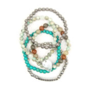 Arizona 5-pc. Multicolor Crackle Bead Stretch Bracelet Set