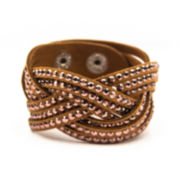 Arizona Marcasite Brown Suede Bracelet