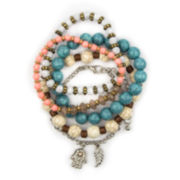 Arizona 5-pc. Crackle Bead Hamsa Bracelet