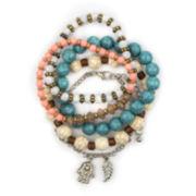 Arizona 5-pc. Crackle Bead Hamsa Bracelet