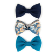Carole Flower and Print Bow Hair Clip