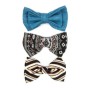Carole Solid and Tribal-Print Bow Hair Clip