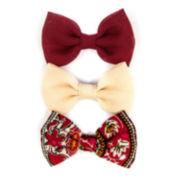 Carole Solid and Print Bow Hair Clip