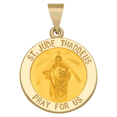 jcpenney.com | 14K Yellow Gold St. Jude Thaddeus Charm Pendant