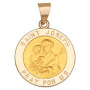 14K Yellow Gold St. Joseph Charm Pendant