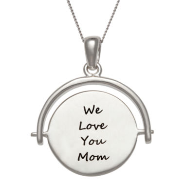 jcpenney.com | Personalized Engravable Swivel Disc Pendant Necklace