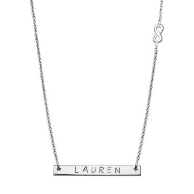 jcpenney.com | Personalized Sterling Silver Infinity Charm Name Bar Necklace
