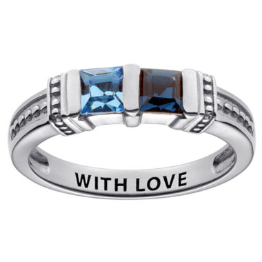 jcpenney.com | Personalized Engravable Two Birthstone Ring