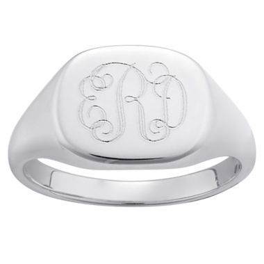jcpenney.com | Personalized Sterling Silver Script Monogram Ring