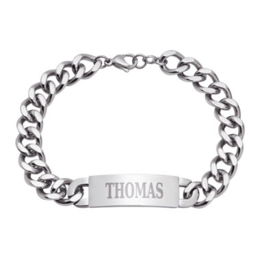 personalized mens stainless steel id bracelet jcpenney