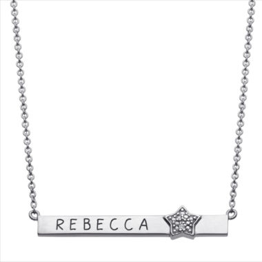 jcpenney.com | Personalized Diamond-Accent Star Name Bar Necklace