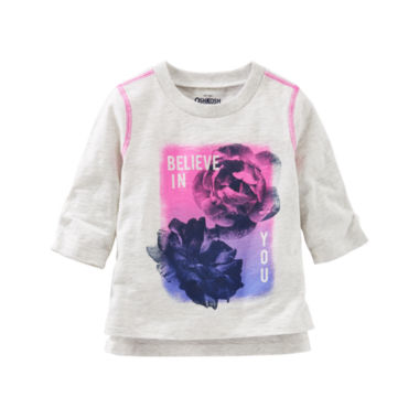 jcpenney.com | Oshkosh Long Sleeve T-Shirt-Baby Girls