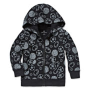 Okie Dokie® Full-Zip Fleece Hoodie - Baby Boys newborn-24m