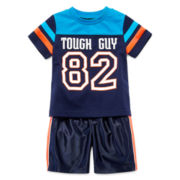 Okie Dokie Football Tee or Dazzle Shorts - Baby Boys newborn-24m