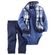 Carter's® 3-pc. Blue Vest, Bodysuit and Pants Set - Baby Boys newborn-24m