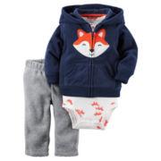 Carter's® 3-pc. Fox Cardigan and Pants Set - Baby Boys newborn-24m