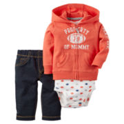 Carter's® 3-pc. Football Cardigan and Pants Set - Baby Boys newborn-24m