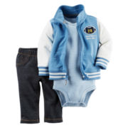 Carter's® 3-pc. Athletic Cardigan and Pants Set - Baby Boys newborn-24m