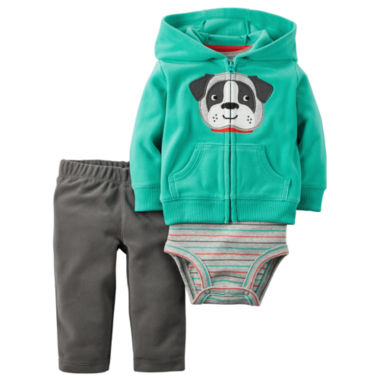 jcpenney.com | Carter's® 3-pc. Cardigan and Pants Set - Baby Boys newborn-24m