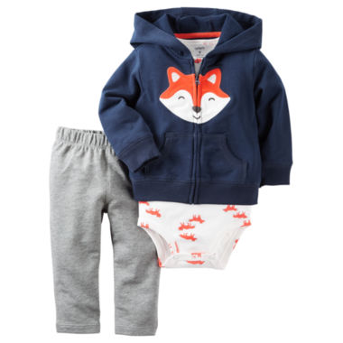 jcpenney.com | Carter's® 3-pc. Fox Cardigan, Bodysuit and Pants Set - Baby Boys newborn-24m